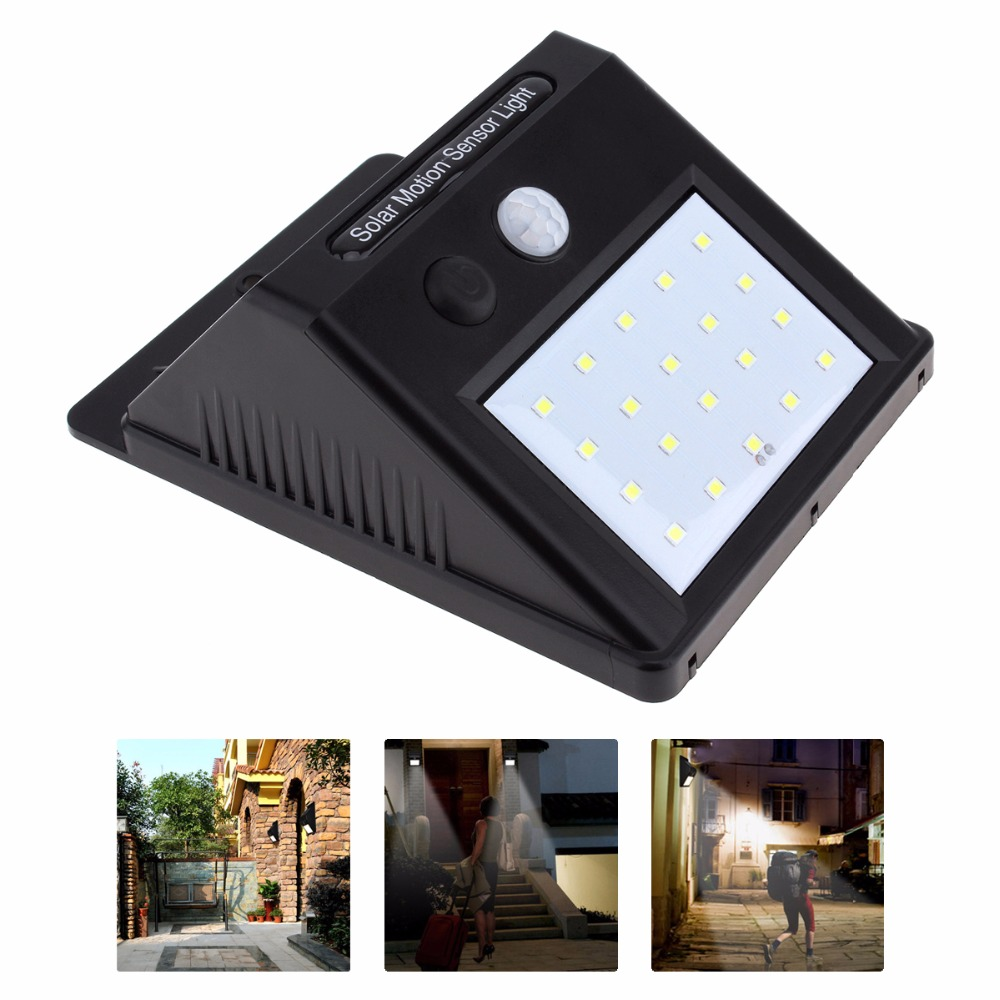 20 LED Waterproof LED Solar Power PIR Motion Sensor Wall Light Christmas Outdoor Street Yard Path Home Garden Security Lamp