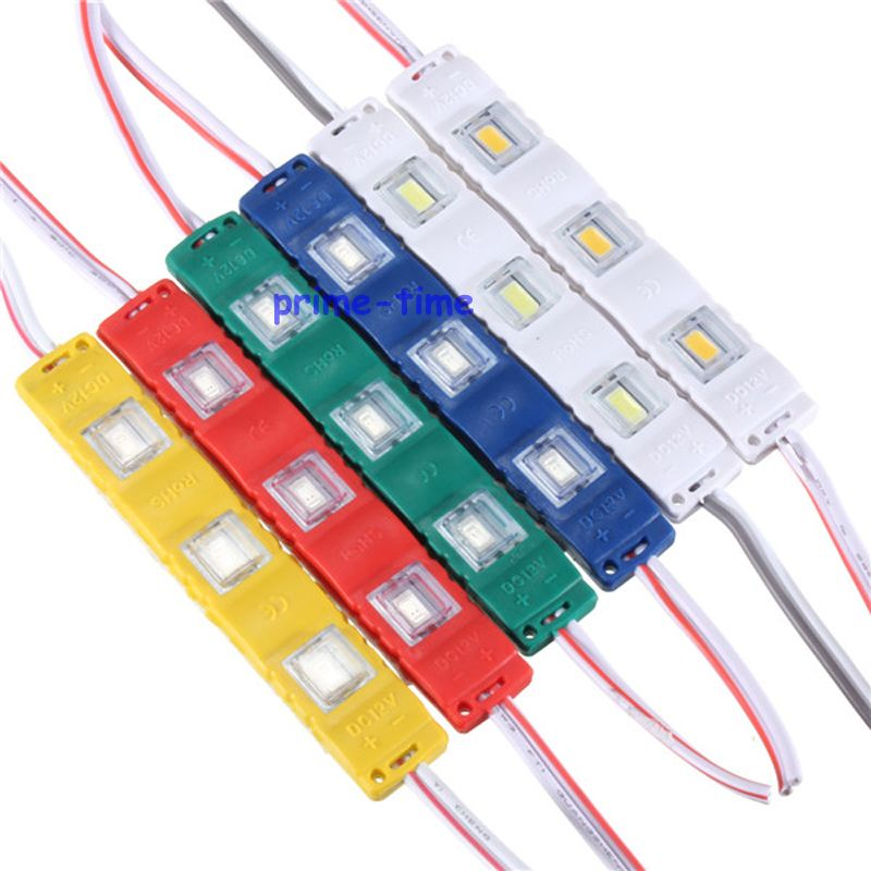 High Quality 5630 SMD 3 LED Module Injection Waterproof IP65 Light Lamp DC12V White Red Green Yellow Blue