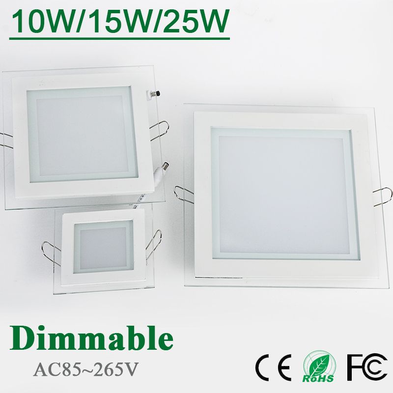 Dimmable LED Panel Downlight Square Glass Panel Lights High Brightness Ceiling Recessed Lamps For Home SMD5730