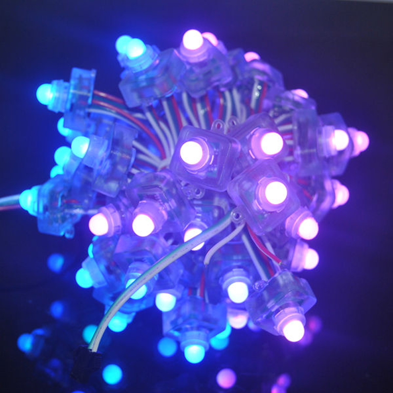 12MM WS2811 Full Color Square Pixel LED Module Lighting String 5V 12V RGB Waterproof Point 2811 IC Addressable Digital Lights