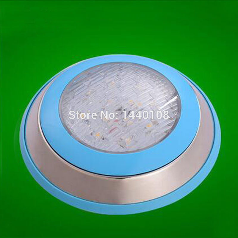 2pcs/lot 15w led round swimming spot lamp Stainless RGB  Ac12V/24v 300mm LED Underwater Landscape Lamp Swimming Pool Wall Lamp
