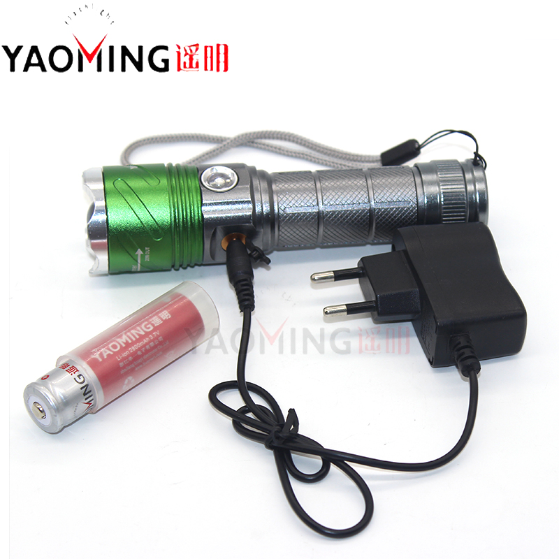Hot UV 395nm CREE Q5 Zoom LED Flashlight Torch Lanterna Purple Violet Light Cree led Ultraviolet Linternas+18650 battery+Charger