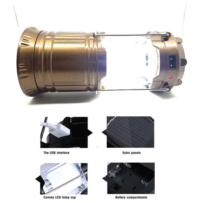 LED solar charging outdoor camping light portable emergency tent camping lamp light small lantern rechargeable lights