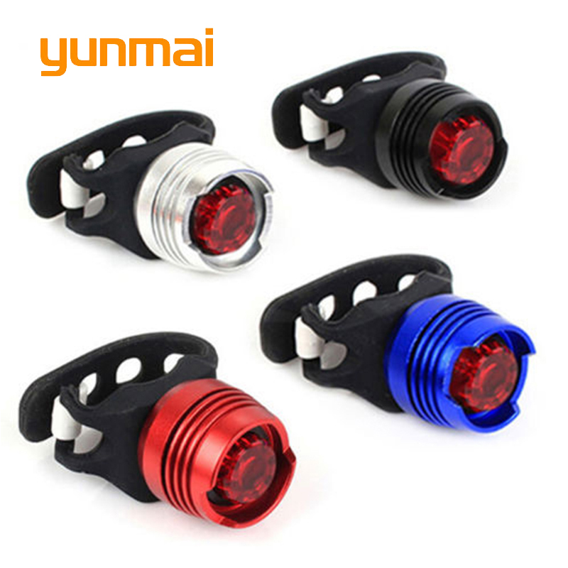 Bike Bicycle Cycling Front Rear Tail Helmet Flash Light Safety Warning Lamp+2 x CR2032 Batteries[S01]