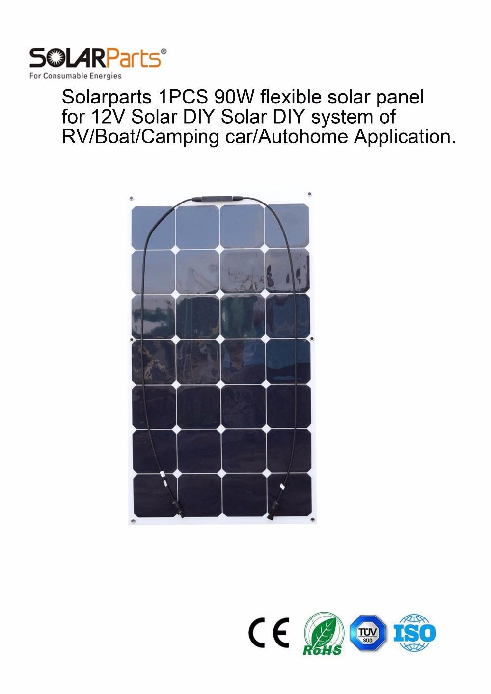 Solarparts 1x 90W flexible solar panel 12V solar system