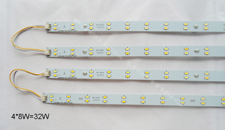 DIY kits aluminum 16W 24W 32W LED rigid strips led profile 520mm double color led H tube 220V 230V 240V led H tube