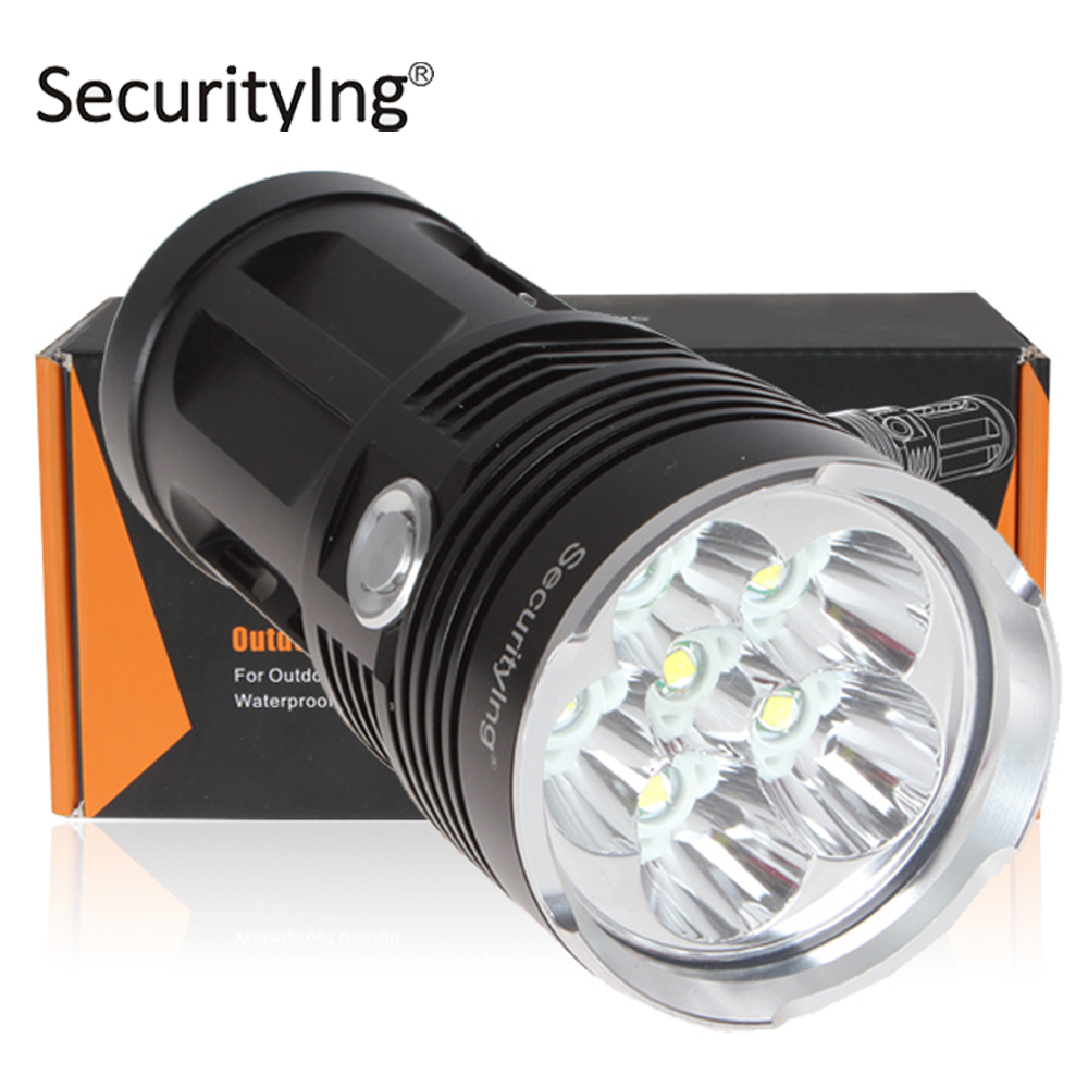 Securitylng Powerful Super Bright LED Flashlight 3600LM Waterproof Portable XM-L T6 LED Torch Flash Light For Camping Hunting