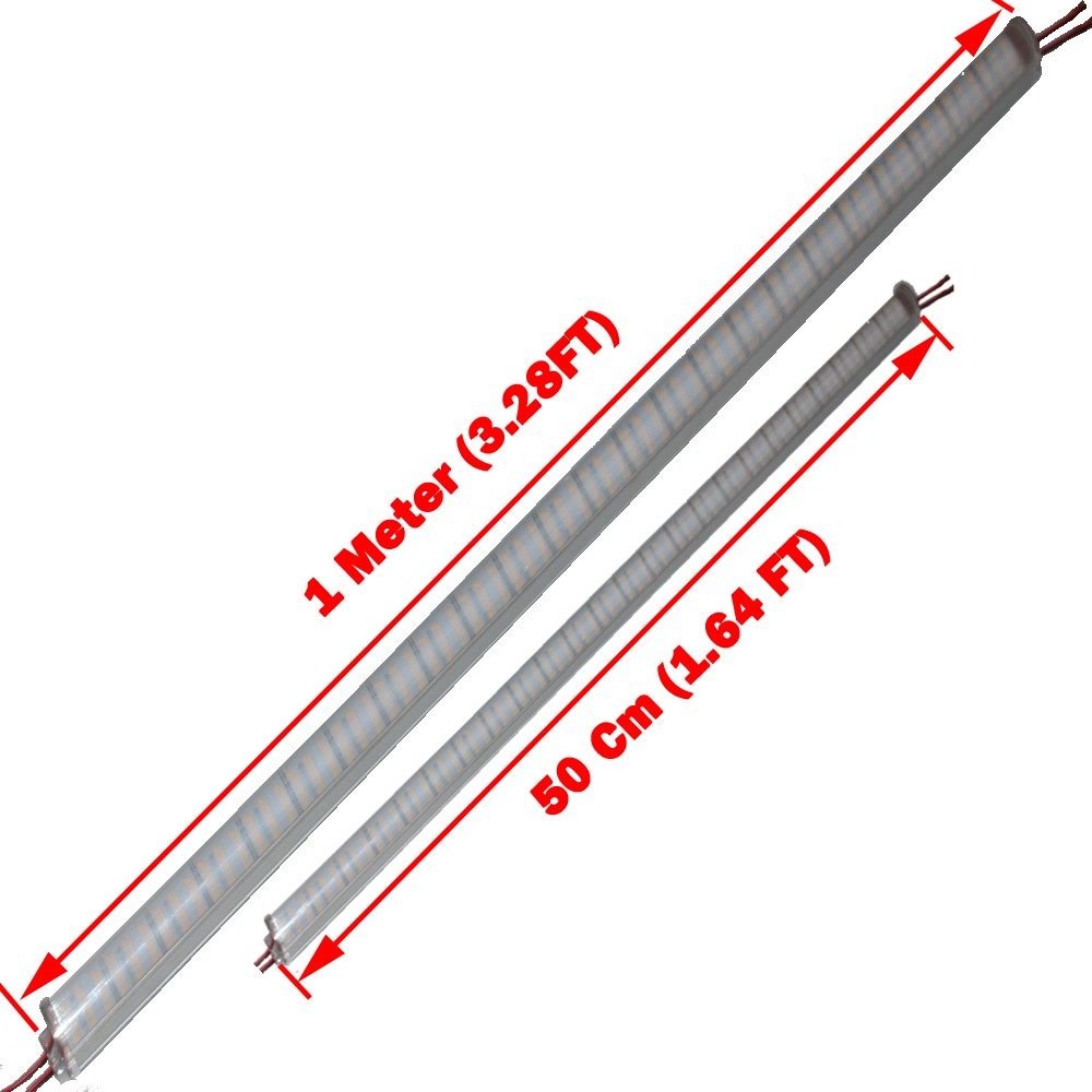 16pcs*50cm LED hard luces strip 72leds/0.5m DC 12V 14w led bar light smd 8520 With Aluminum u Profile shell and pc cover