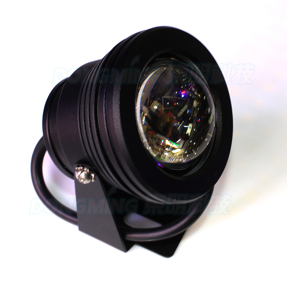 10w LED underwater lights  IP68 waterproof Cool White/Warm White led pond pool light  AC 85-265V Black Body Convex Lens