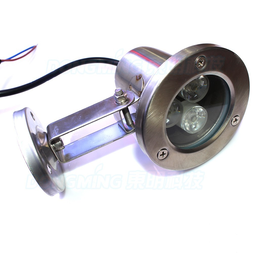 Convex lens underwater lights swimming pool lamp AC85-265V 3W led underwater lights rgb IP68 waterproof