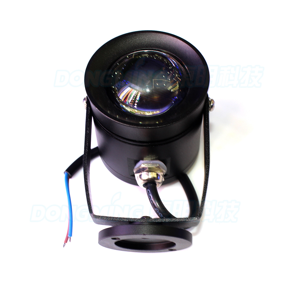 4pcs black body underwater led light AC85-265V 10W red green blue underwater led boat convex lens underwater pool lights