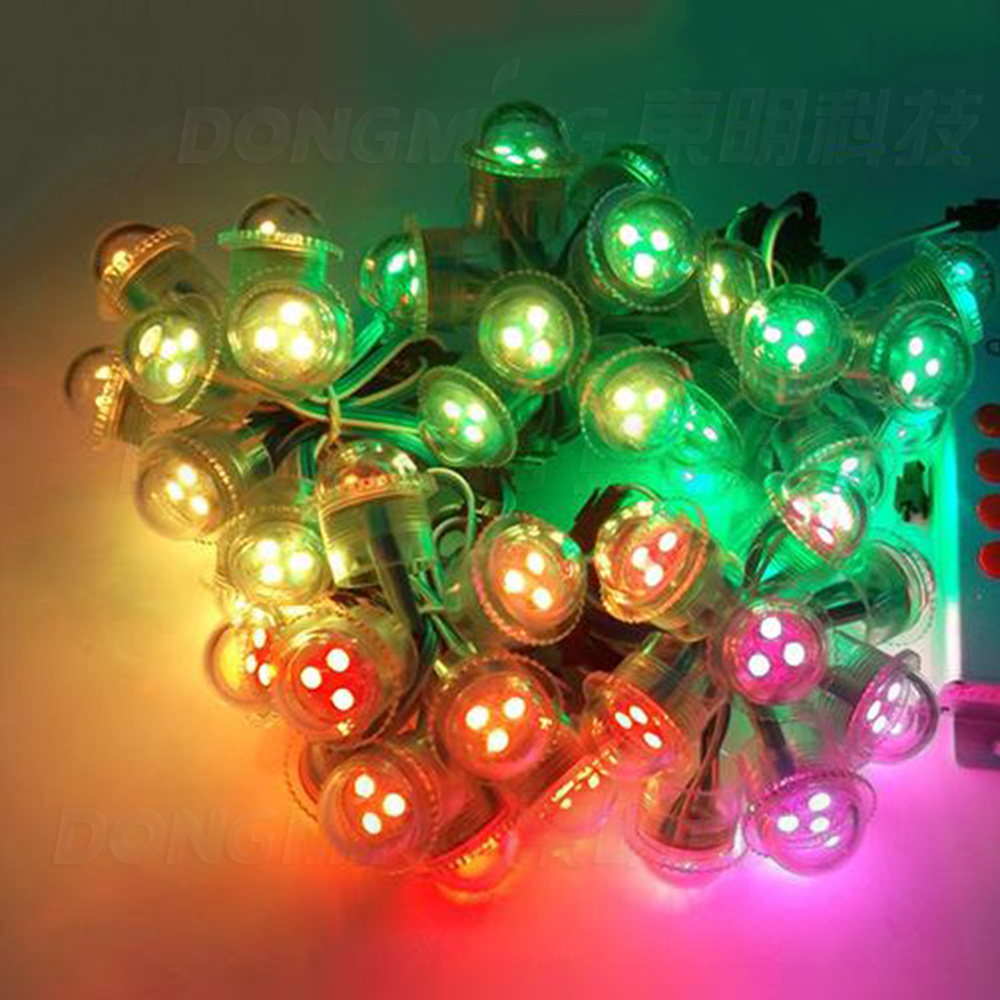 Wholesale 200PCS  IP68 led pixel modules D26MM 3 LEDs 5050 SMD RGB pixel Led Module led point light WS2801 DC 12V