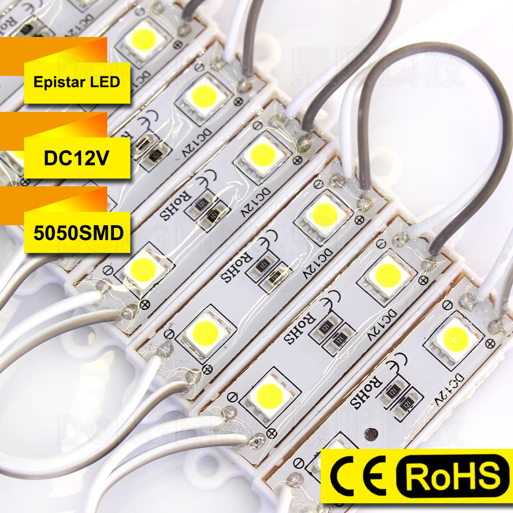 Free Fedex 400pcs/Lot 5050SMD LED Modules Backlight Waterproof IP65 2 LEDs High Bright LED Letter Sign Red/Green/Blue/White