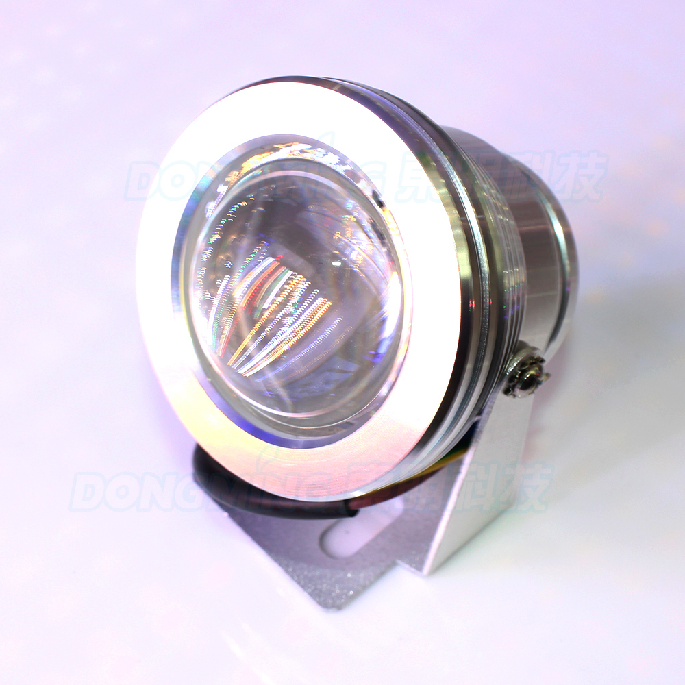 IP68 waterproof Convex Lens rgb pool lights Swimming Pool lights 10W  rgb AC 85-265V led underwater lights