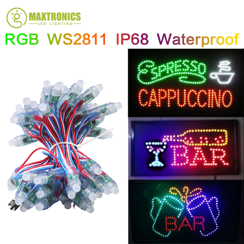 DC5V 12mm WS2811 led pixel module,IP68 waterproof full color RGB string christmas LED light Addressable as ucs1903 WS2801