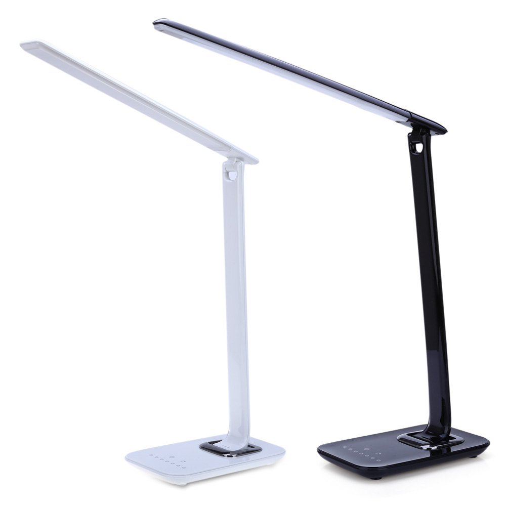 New LED Table Lamp 12W Foldable 7-levels Dimmer Rotatable Eye Care LED Desk Lamp Touch-Sensitive Controller USB EU/US Plug