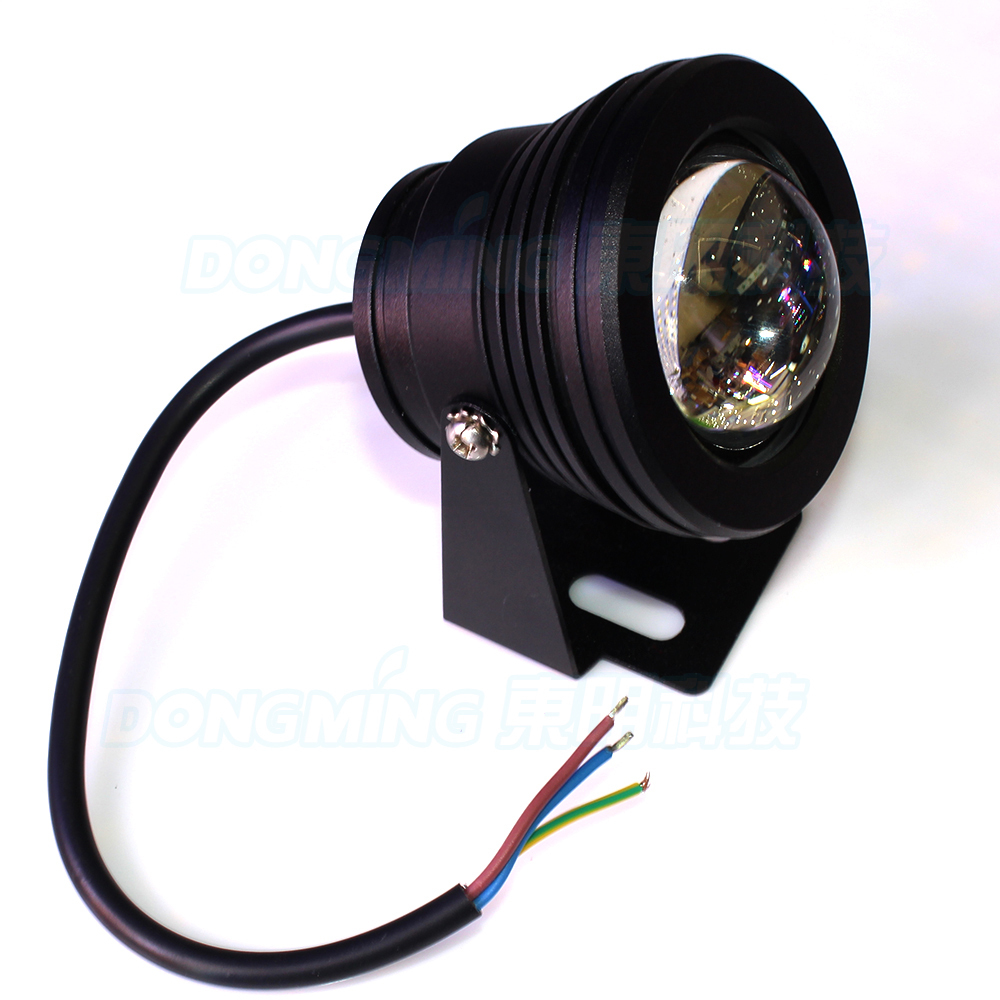 bladk body underwater pool lights AC 85-265V 10W led underwater lights convex lens 60 angle fountain light red/ green /blue