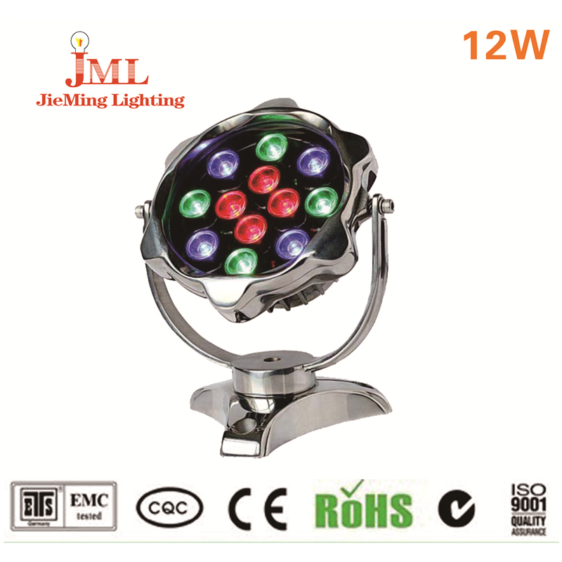 practical 304 316 stainless steel IP68 Waterproof  12W  12V LED Fountain Pool flood Lamp Lighting