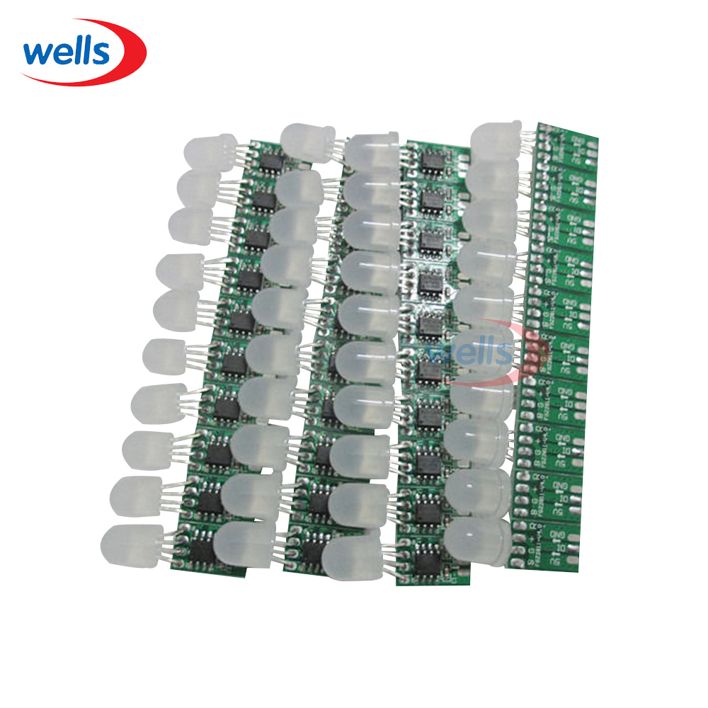 20pcs Non-waterproof 8mm WS2811 Pixel node Module Light No Wire Addressable 5V