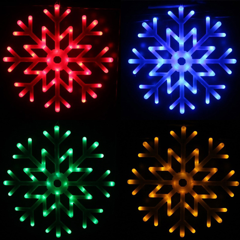 FUMAT Snowflakes LED Fairy String Light Holiday Snow 40pcs LED Indoor/Outdoor Xmas Decor Bracket lamp RGB /WHITE INDOOR Lamp