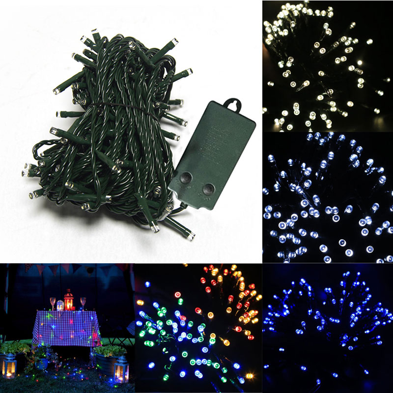 Waterproof 33ft 72 LEDs Battery Operated Light String with 8 Functions & Auto Timer for Christmas / Party / Wedding