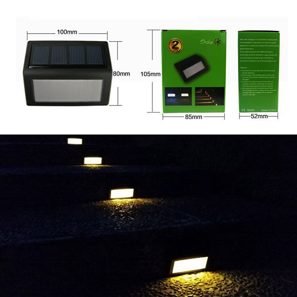 Waterproof 6 LEDs Solar Light Sensor Light Outdoor Light Path Corridor Wall Lamp Spot Lighting LED Solar Lamp