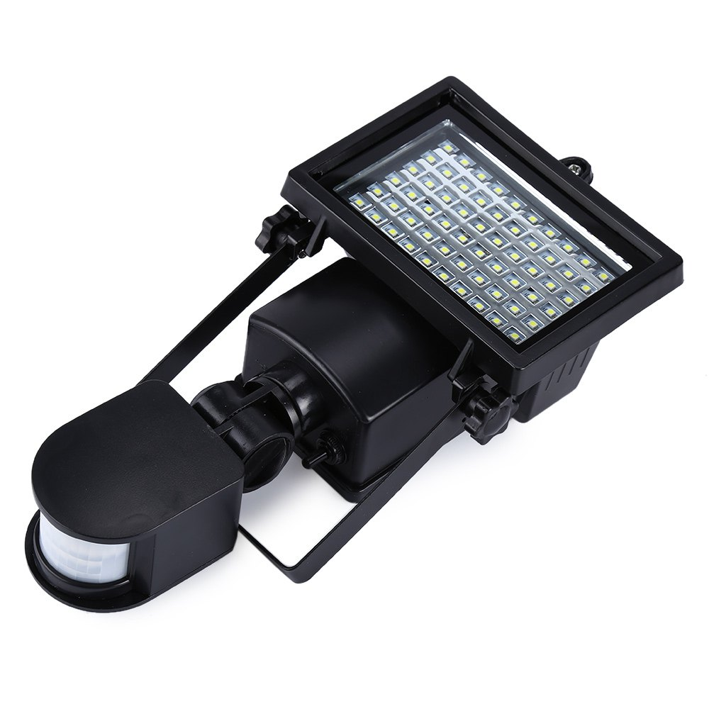 New Arrival Natural White Outdoor Light SL - 60 LED Super Bright Waterproof Solar Powered PIR Motion Detector Door Wall Lamp