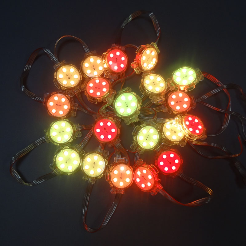 1000pcs/lot DC24V SH1908 UCS1903 Diffused Addressable RGB LED Pixel String module node light Waterproof IP68 For Signage