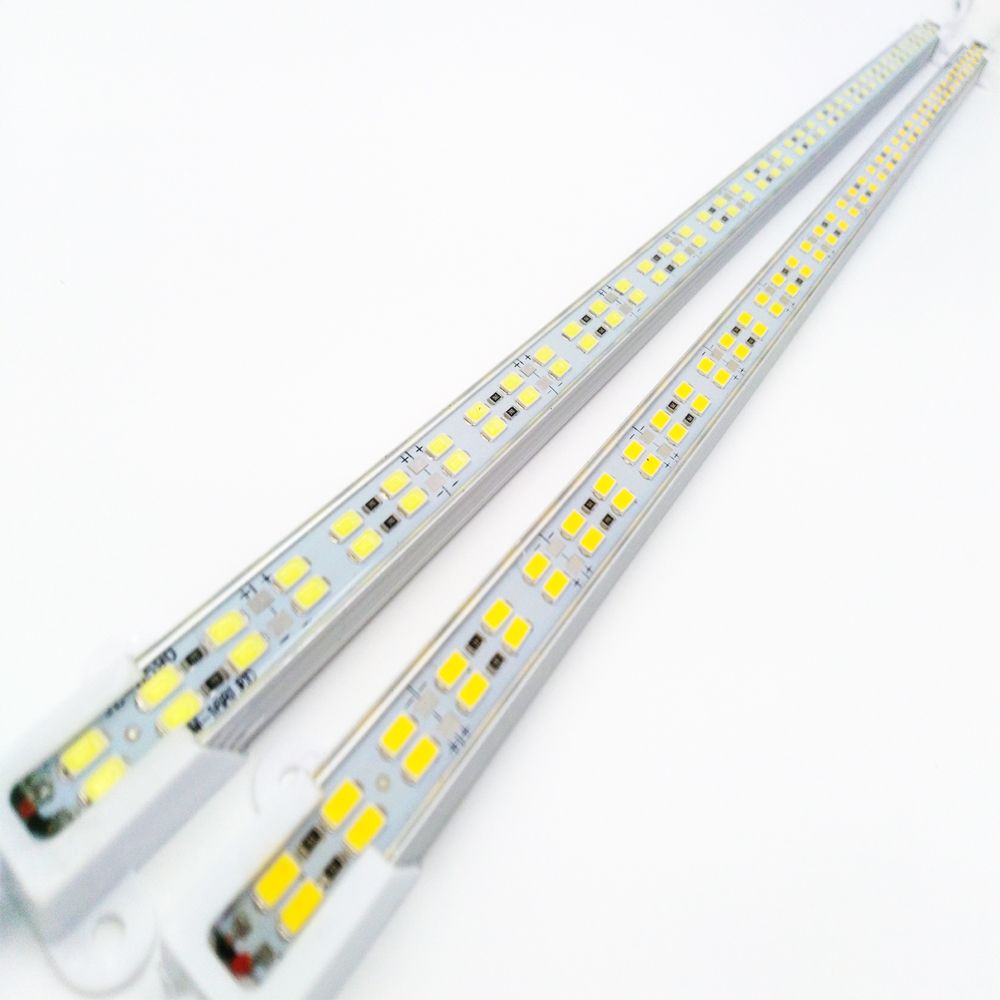 1 meter 168Leds Double Row Led Luces Strip SMD5730 bar light Waterproof Cool White/Warm white 168Leds/m 12mm PCB DC12V