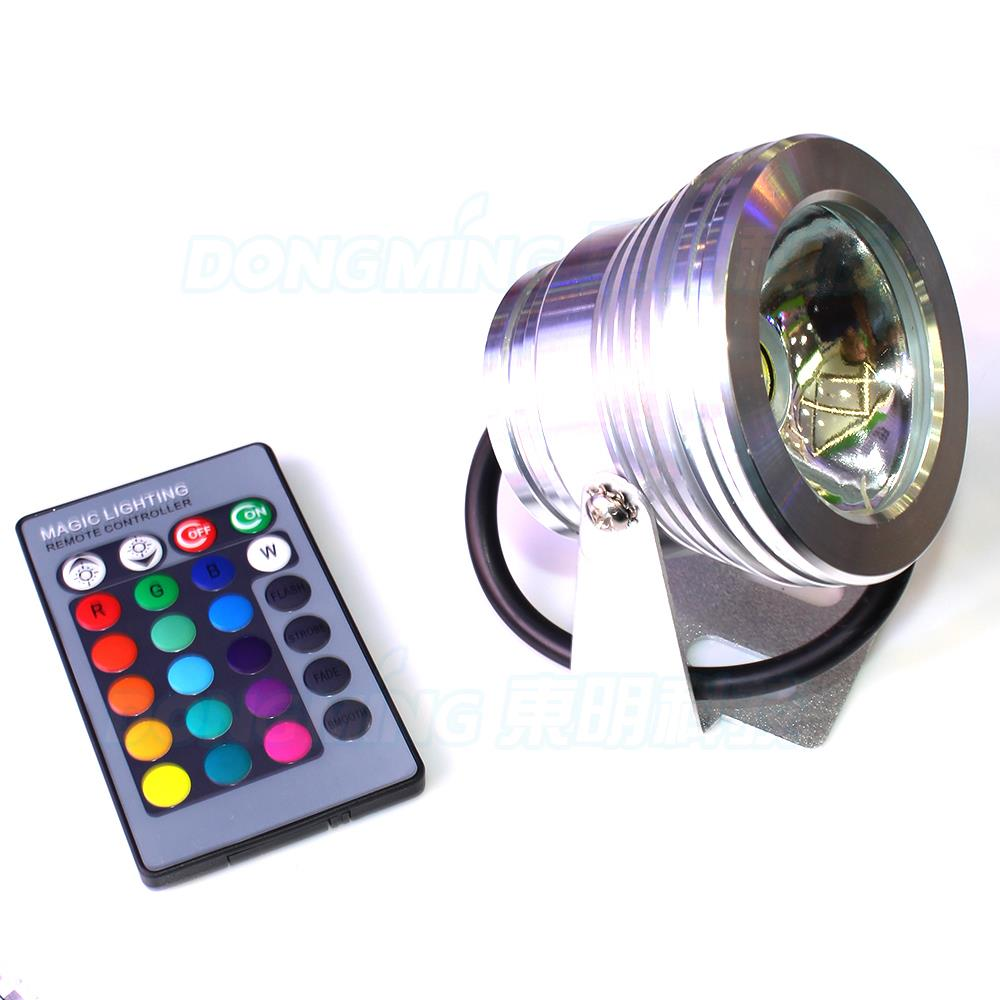 AC 85-265V underwater led lights rgb silver shell flat lens waterproof LED IP68 rgb pool light underwater led + 24key controller