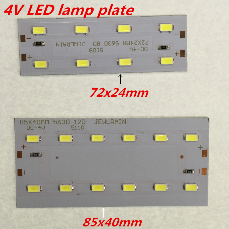 5pcs  4V  LED 5630 absorb dome light transform light board Avoid driving power supply  85x40mm or  72X24mm  lamp plate