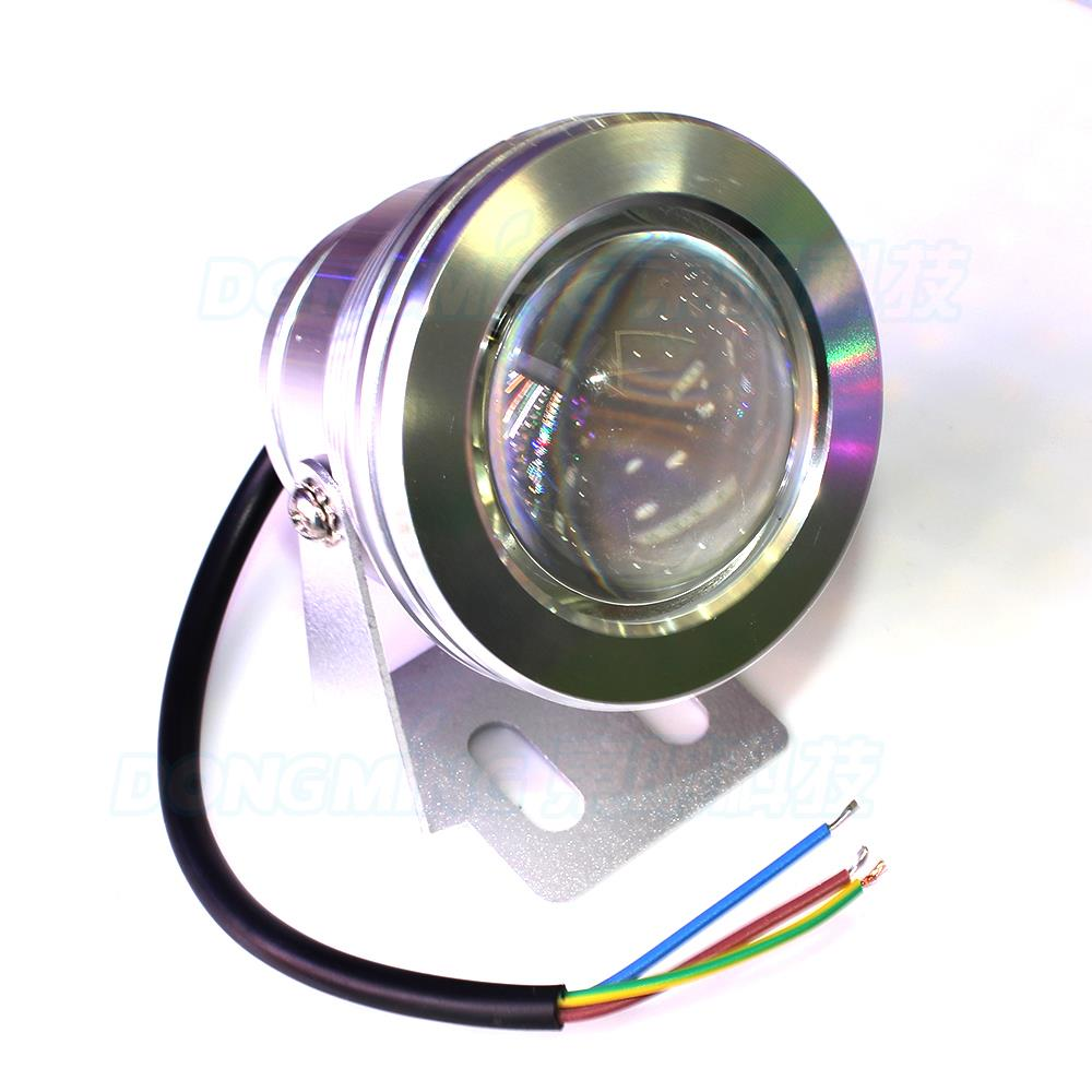 New arrival underwater led red green blue silver shell Convex lens 12v 10w underwater light pool with super bright pool light