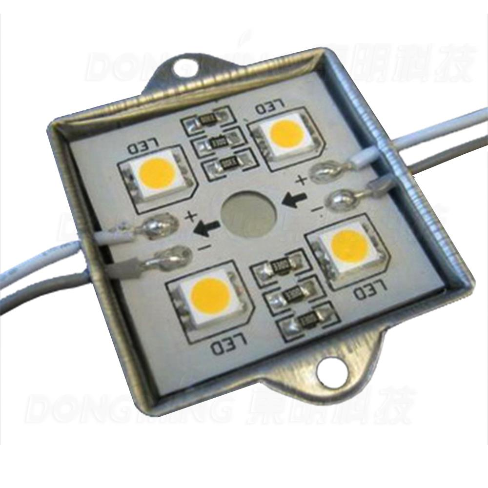 LED Module 5050 SMD RGB Blue Yellow White Warm White Green Red 4 Leds High Bright waterproof RGB LED Modules light 300pcs/Lot