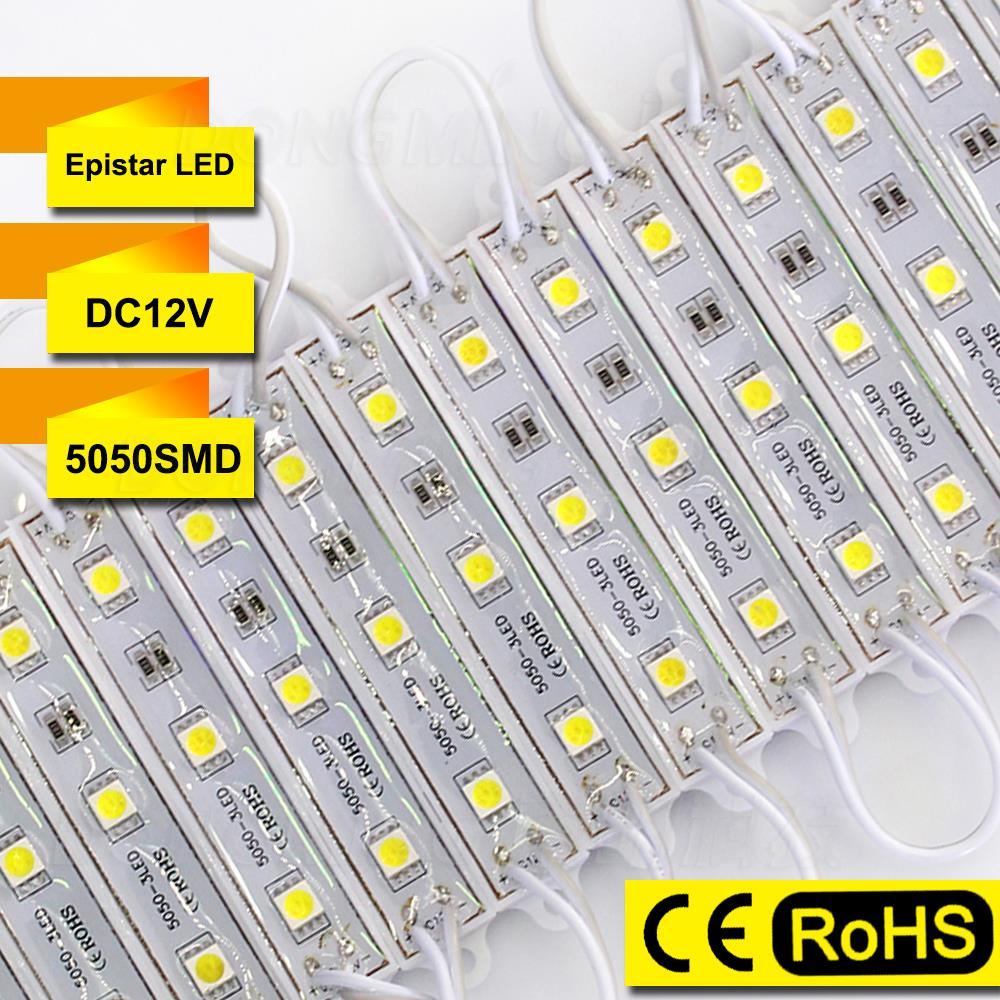 Wholesale 600pcs/lot DC 12V LED Modules Lights Advertising Sign Lights Waterproof IP65 3 LEDs 5050 SMD outdoor led driver module