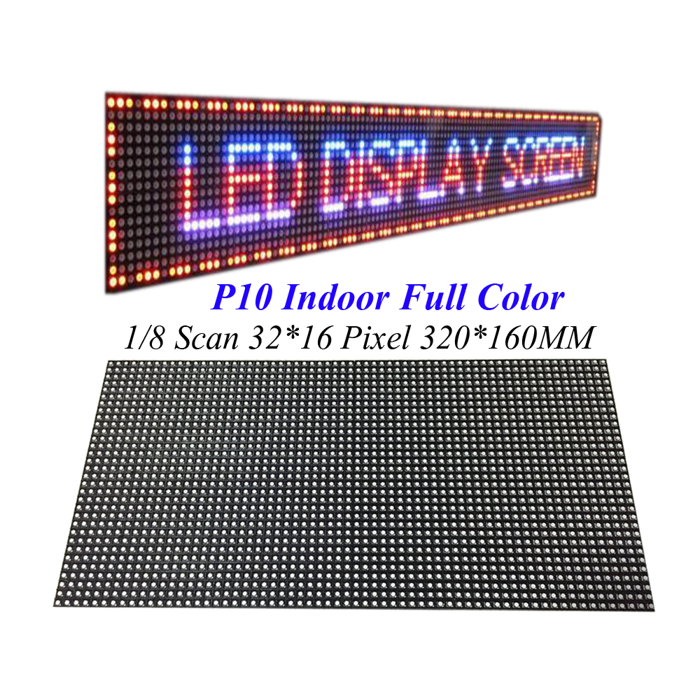 Indoor Screen Module 320*160MM 32*16Pixel 3in1 SMD 1/8 Scan  Full Color LED Module for Advertising media  P10 LED Display