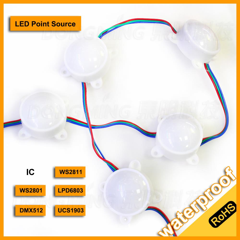 6led high bright 5050smd led module waterproof DC12V led rgb module diameter 45mm outdoors WS2811 LED Pixel Module