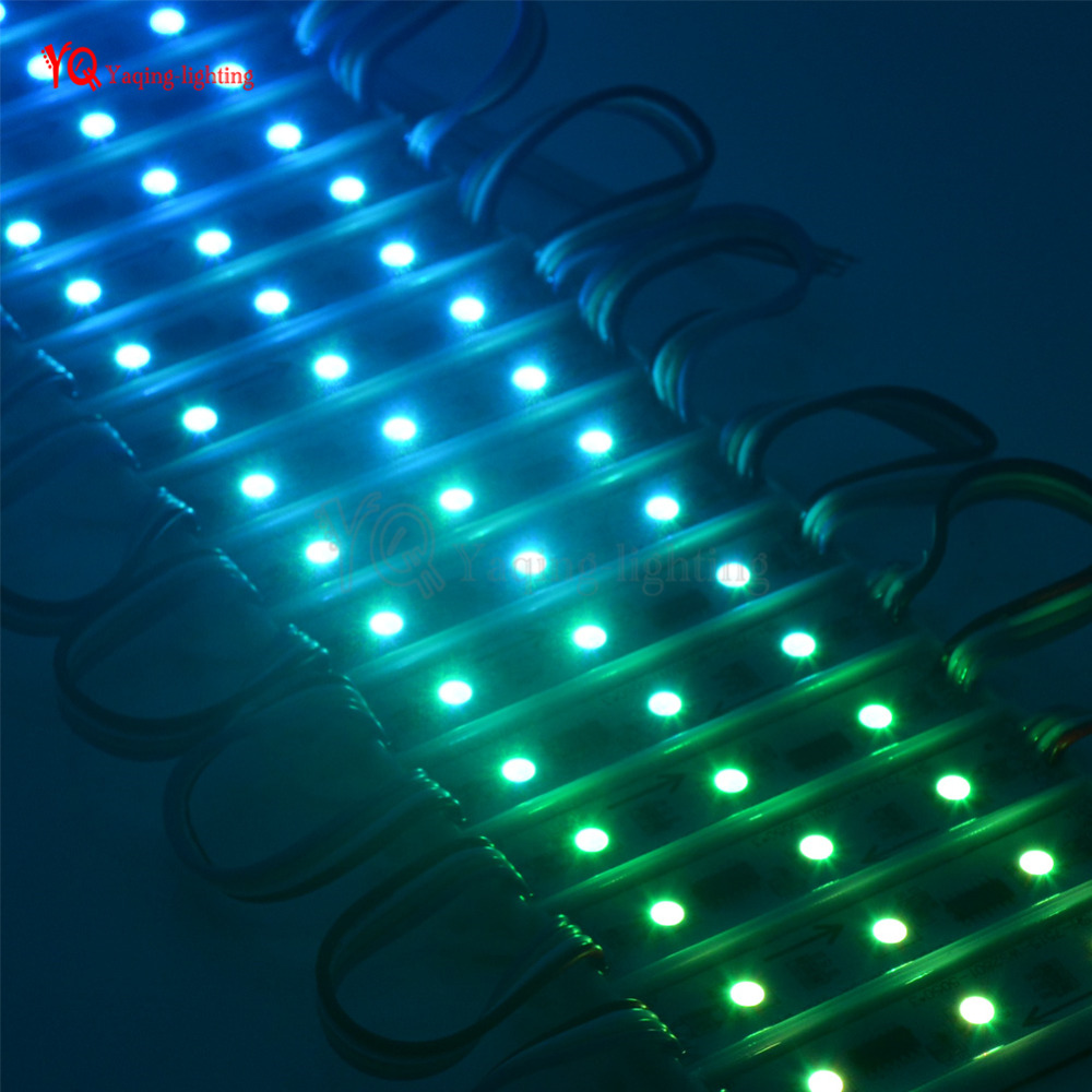 20PCS/String WS2801 IC DC 12V 3LEDS diameter 75*15 5050 RGB SMD LED Pixel Digital Pixel IP65 Waterproof Module String Light