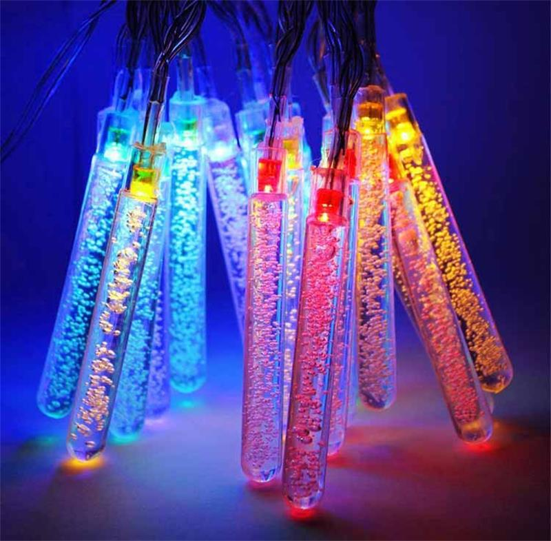 Solar Garden string lights Ice Piton 20LED Christmas holiday Outdoor Landscape Fairy light decoration ice-pellets lamp