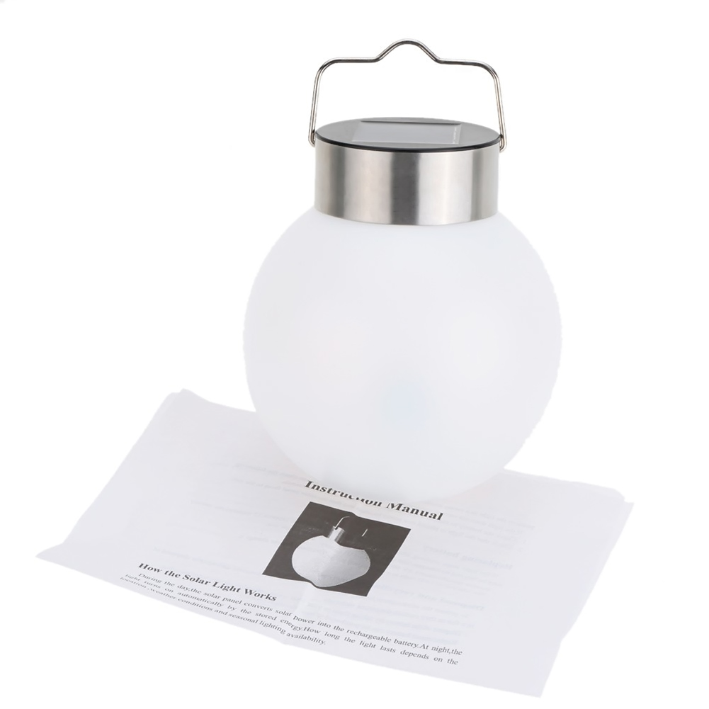 Stainless Steel Ball Solar Hanging Lamp Luminaria Solar Led Landscape Lamp Abajur Outdoor Decorative Light