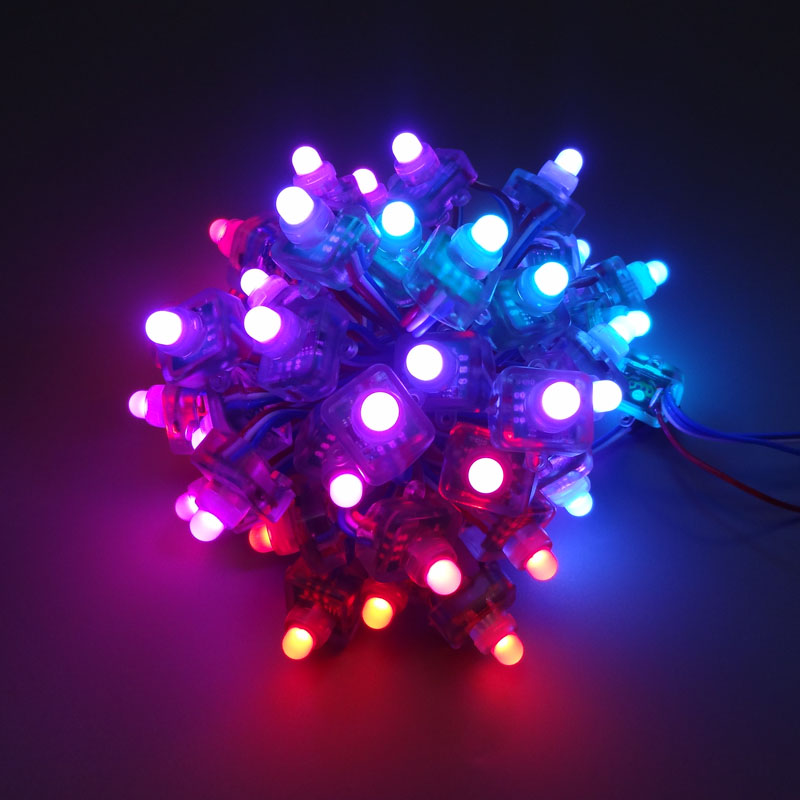 3000pcs 12mm Ws2811 2811 Square Pixel Led Modules Light Dc5v 12v Outdoor Waterproof Full Color Digital Led Pixel Lights