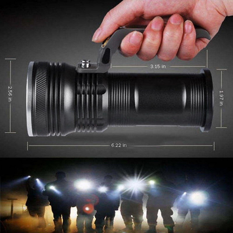 1 PC Outdoor Camping Fishing Flashlight  XM-L 3000LM 3-mode Police Tactical LED Flashlight Torch Handheld Lamp VEM51 P50