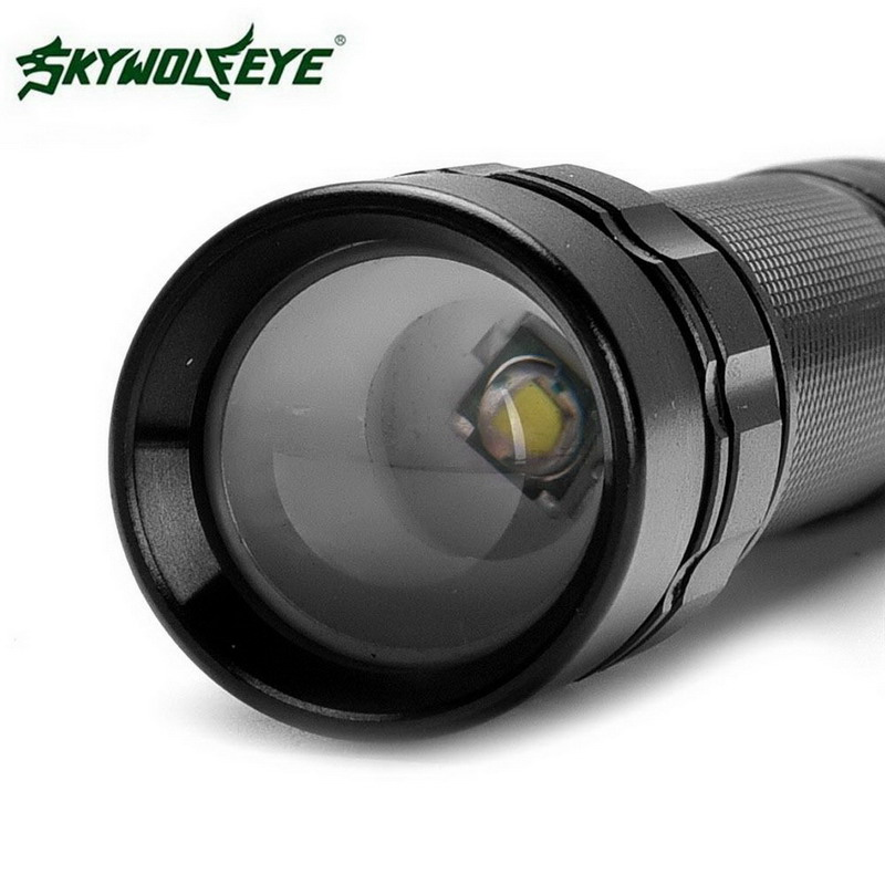 1PC Outdoor Travel Camping Mini Flashlight  Focus 3000 Lumens 3 Modes XML T6 LED 18650 Flashlight Torch Lamp Powerful VEJ93 P50