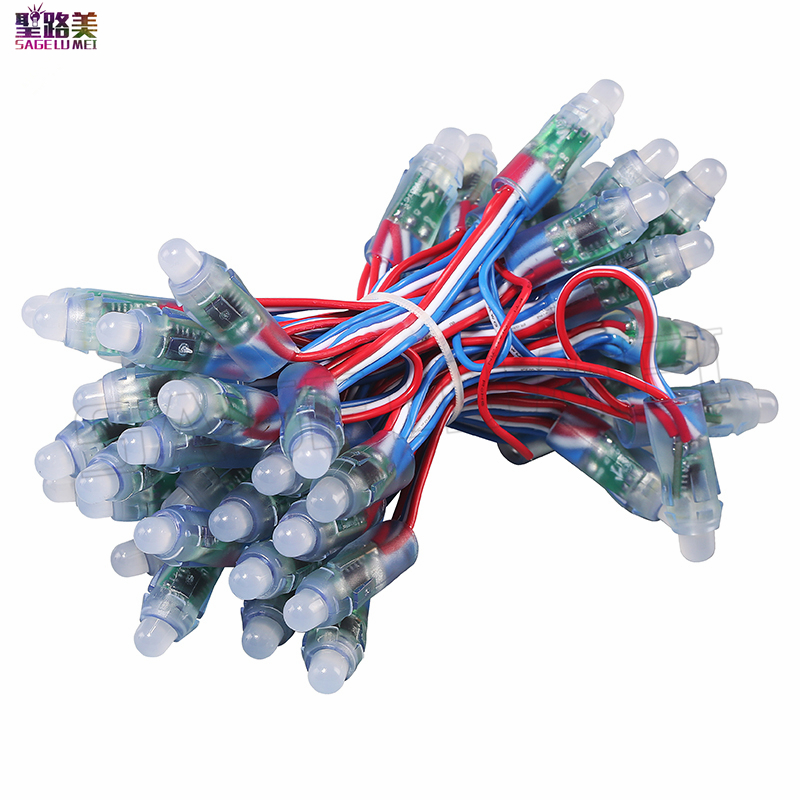 DC5V 12mm ws2811 ucs1903 led pixel module,IP68 waterproof full color RGB string christmas Independently Addressable LED light
