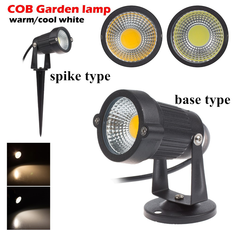DC 24V IP65 Outdoor Garden LED Lamp Light 3W 5W COB LED Lawn Spike Light Pond Path Landscape Spotlight Bulbs