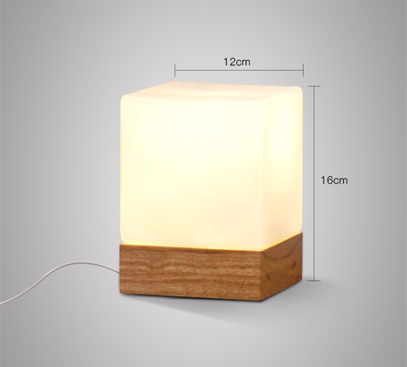 Square Glass Lamp Shade Led Indoor, Square Glass Table Lamp Base