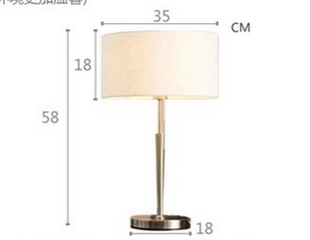 modern brief linen bedside table lamp for hotel creative pull switch table decor lights  E27 lamp A051