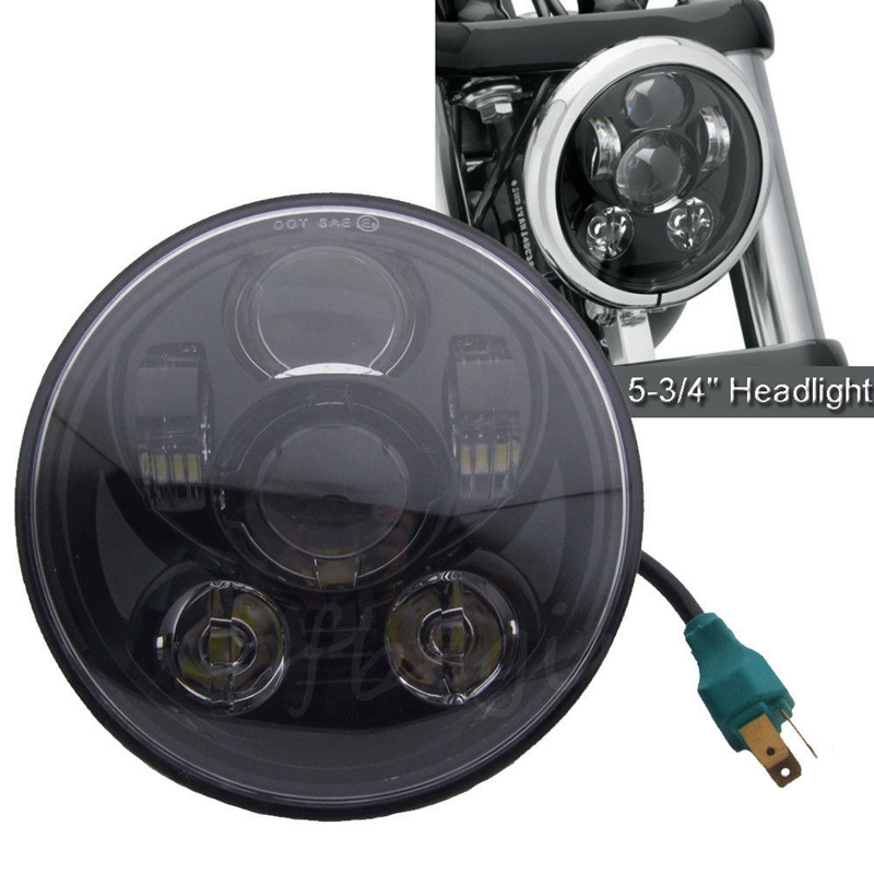 5.75 Inch LED Headlight High & Low Beam LED Headlamp Driving Light for Harley Davidson Motorcycle Projector Daymaker Headlights