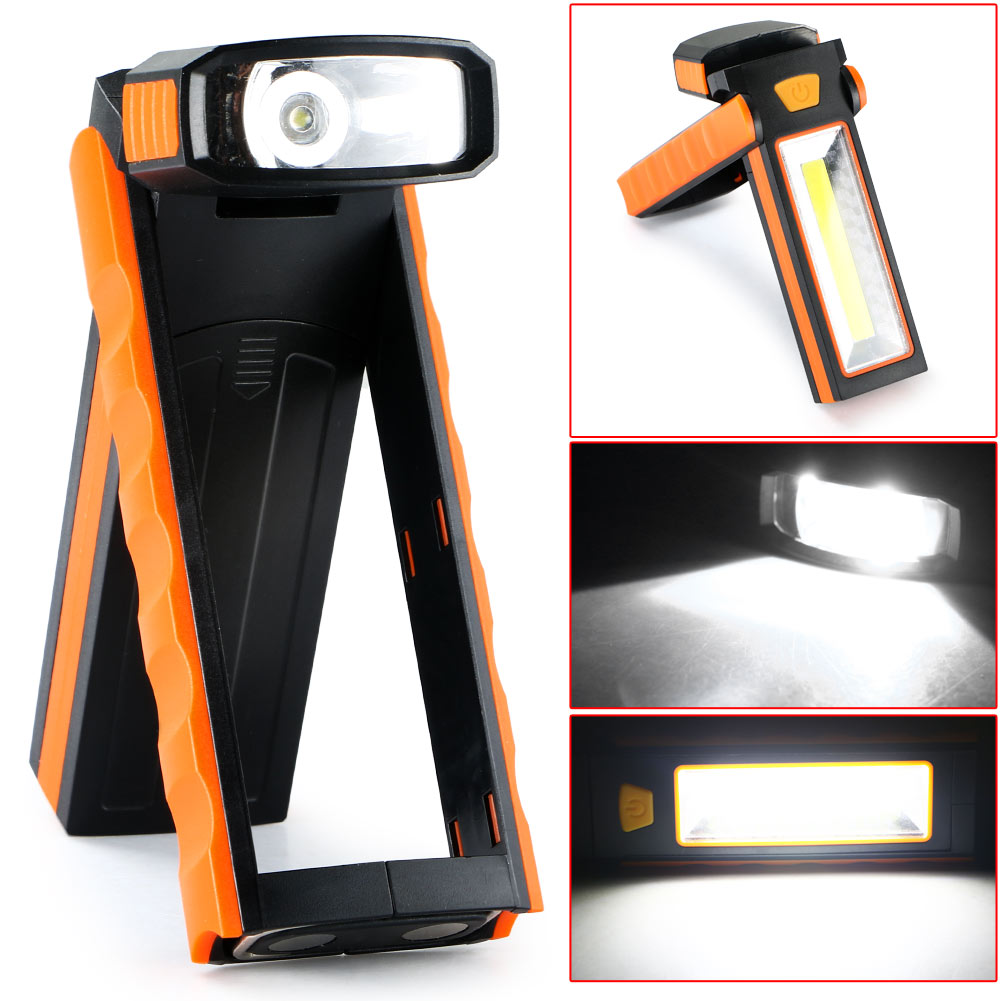 Mini 3W COB LED Work Light Flashlight Camping Lamp Inspection Working Tent Light Magnetic everyday carry, patrol, caving