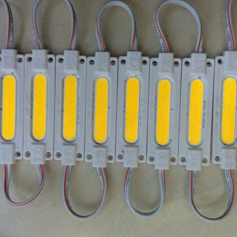 20pcs 2W Injection led COB module Light Advertising lamp Waterproof DC12V led background light warm white/red/blue/Green/Yellow