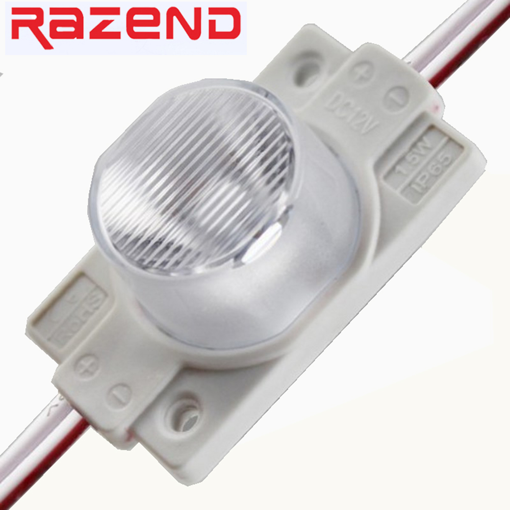 100pcs 2W 1.5W injection LED Module Light SMD 3535 Cold White Waterproof IP65 DC12V for Advertising Sign CE RoSH